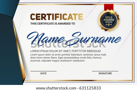 vector certificate diploma template line pattern stock vector rh shutterstock com vector certificate template free download vector certificate border