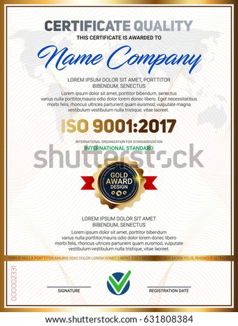 Set vector mini certificate quality banners stock vector 631808408 vector certificate quality template with luxury line pattern and gold award emblem iso 9001 certified yelopaper Images