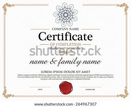 Certificate template stock images royalty free images vectors vector certificate template yadclub Image collections