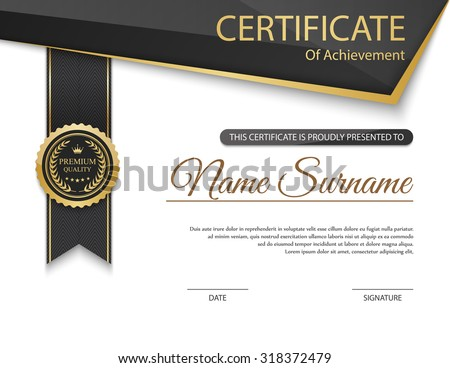 Vector Certificate Template Stock Vector (Royalty Free ...