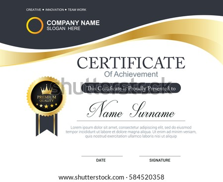 Certificate Template Stock Images RoyaltyFree Images  Vectors