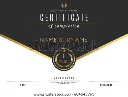 vector certificate template design with luxury best company award