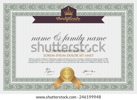 Vector certificate template-vector  - stock vector