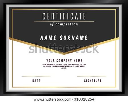 Vector Certificate Template with Premium Minimal Design - stock vector