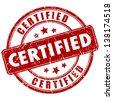 Vector certified stamp - stock photo