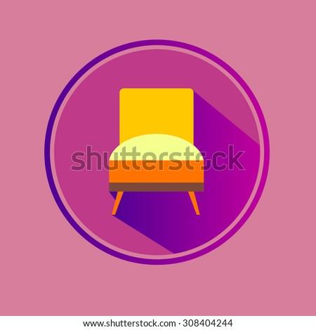 vector chair sofa furniture seat interior home - stock vector