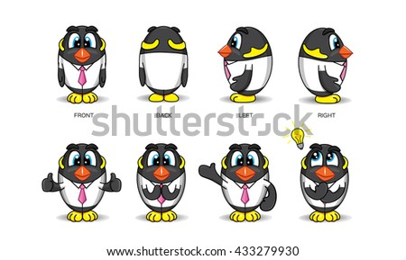 vector character birds, Cute cartoon, all in separate layers for easy editing. - stock vector