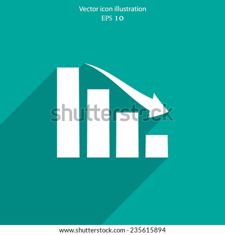 Vector chart web flat icon. Eps 10 illustration.