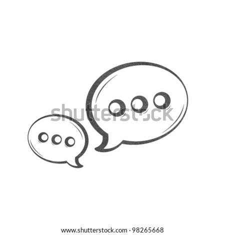 Vector Chat Bubble - stock vector