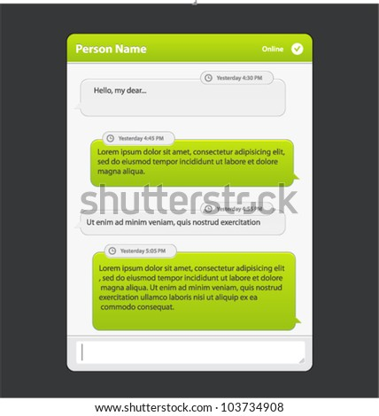 Vector chat frames: message boxes for your text - stock vector