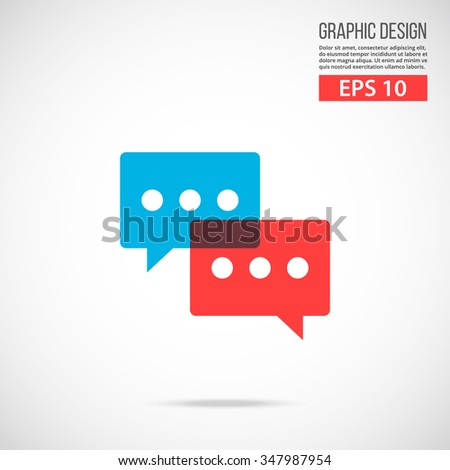 Vector chat icon. Special edition. Trendy flat design vector illustration, quality concept for web banners, web and mobile applications, infographics. Vector icon isolated on gradient background - stock vector