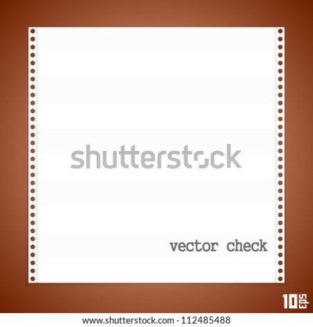 vector check - stock vector