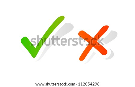 Vector check mark graphic - stock vector
