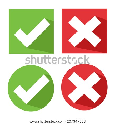 vector check mark icons - stock vector