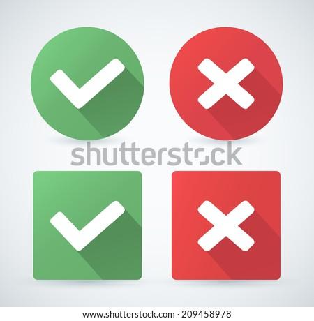 Vector check mark icons. - stock vector