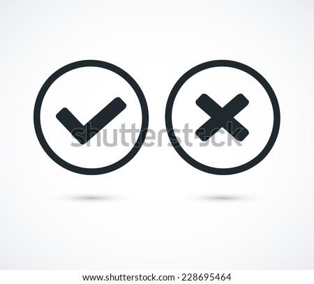 Vector check mark icons - stock vector