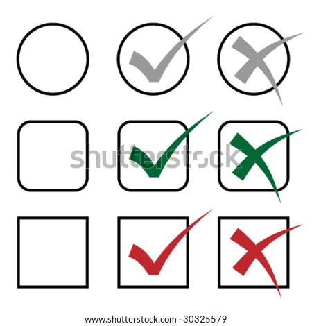 vector check marks - stock vector