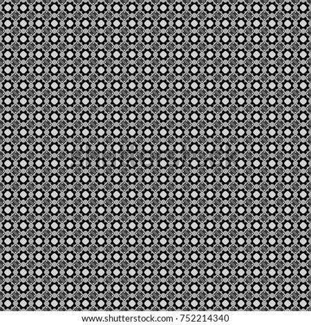 Vector checkered fabric texture print in shades of gray, black and white. Seamless tartan plaid pattern.