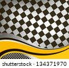 vector checkered racing flag background. EPS10 - stock vector