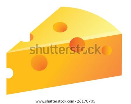 Vector cheese - stock vector