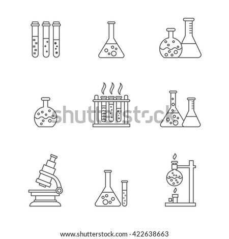 Vector chemical processing equipment beaker burner stock vector vector chemical processing equipment beaker burner test tubes microscope retorts ccuart Images