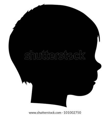 Vector child silhouette - stock vector