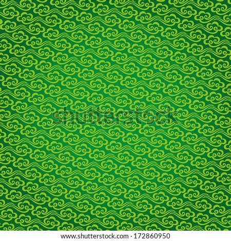 Vector Chinese cloud pattern background - stock vector