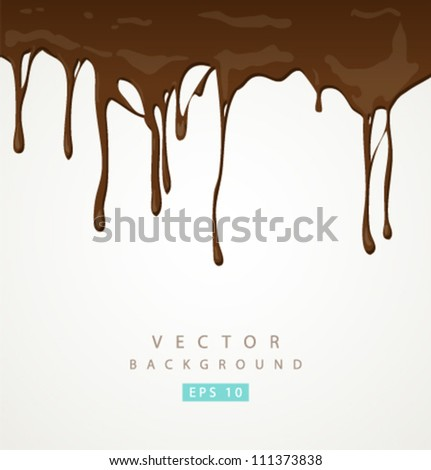 Vector chocolate and milk background - stock vector