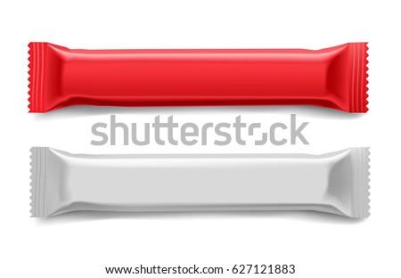 Vector Chocolate Bar Packaging Blank Pack Stock Vector HD (Royalty ...