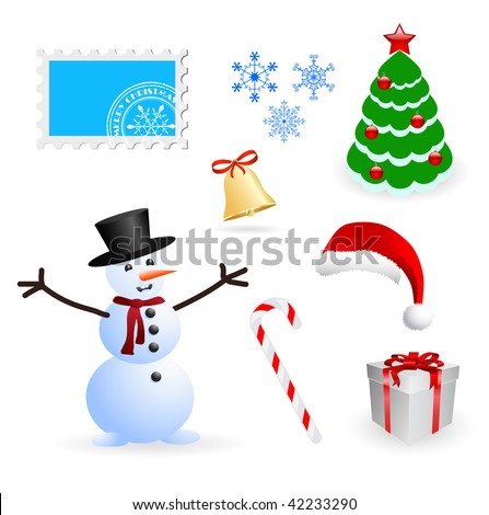 vector christmas and new year design elements set