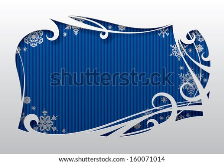 Vector Christmas and New-Year's greeting card with snowflakes - stock vector