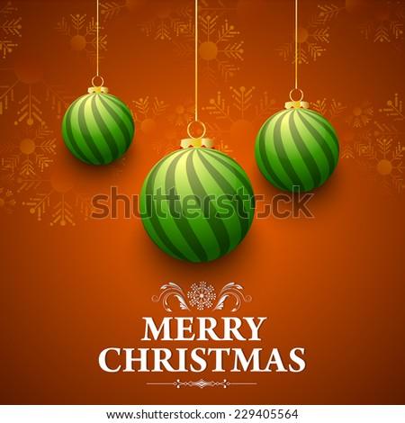 vector Christmas background for merry Christmas, Christmas greeting card. - stock vector