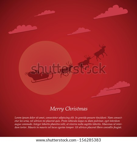 Vector christmas background with copy space