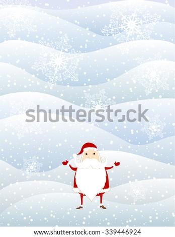 Vector Christmas background with Santa. Vector design - stock vector