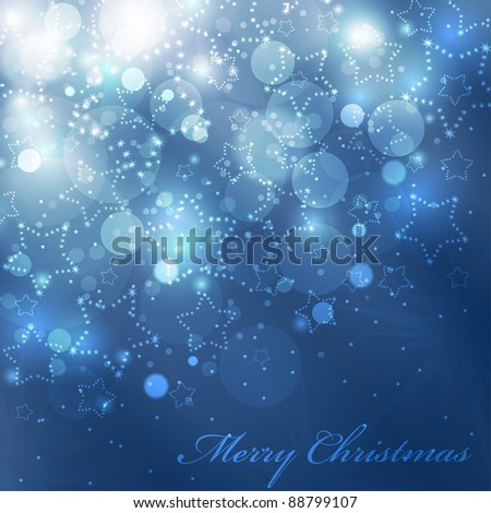Vector christmas background with shining stars(eps10) - stock vector