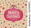 vector Christmas ball(hanging) - stock photo