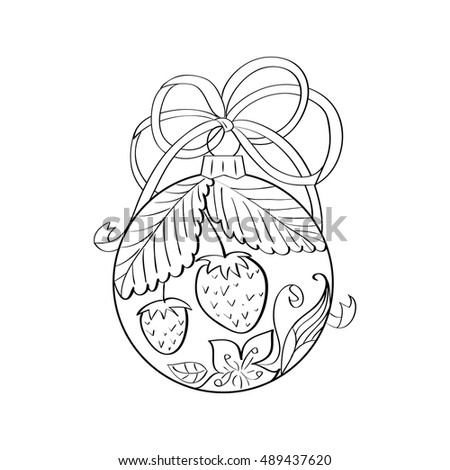 Vector Christmas Ball With Summer Ornament Inside