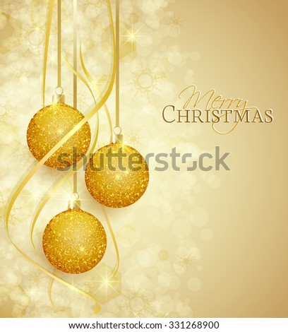 Vector Christmas balls on a brown background - stock vector