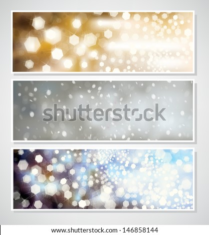 Vector Christmas banners for design.  - stock vector