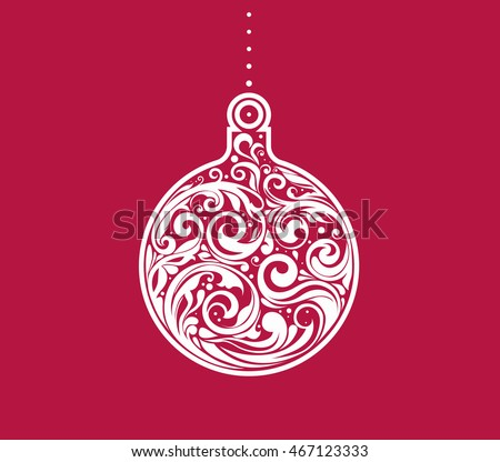 Vector Christmas decorative greeting card design.