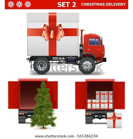 Vector Christmas Delivery Set 2 - stock vector