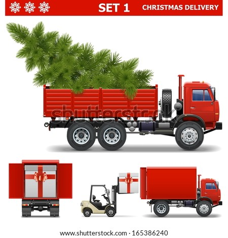 Vector Christmas Delivery Set 1 - stock vector