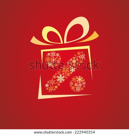 Vector Christmas discounts and promotions box - stock vector