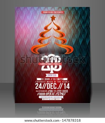 Vector Christmas Flyer Magazine Cover & Poster Template.  - stock vector