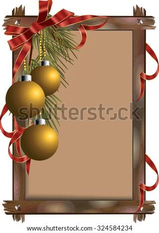 vector christmas frame - stock vector