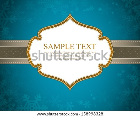 Vector Christmas Frame and Background - stock vector
