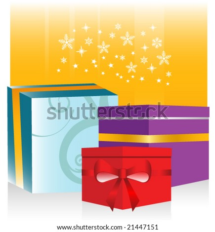 Vector Christmas Gifts Sale Design
