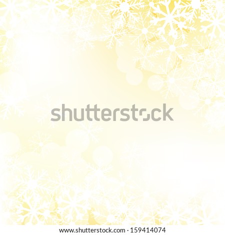 Vector christmas golden background with lights - stock vector