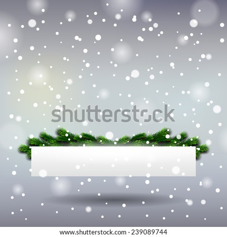 Vector Christmas Greeting Card Happy new year xmas - stock vector