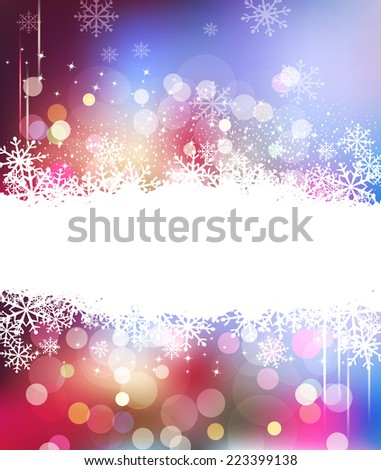 vector Christmas holiday background with snowflakes - stock vector